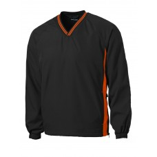 Sport-Tek® Tipped V-Neck Raglan Wind Shirt