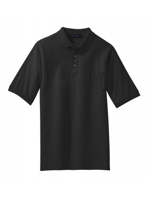 Port Authority Silk Touch Polo with Pocket