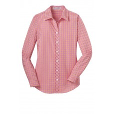 Port Authority® Ladies Long Sleeve Gingham Easy Care Shirt