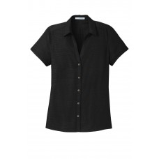 Port Authority® Ladies Textured Camp Shirt