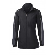 Sport-Tek® Ladies Piped Colorblock Wind Jacket