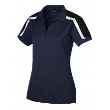 Sport-Tek Ladies Tricolor Shoulder Micropique Sport-Wick Polo