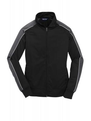 Sport-Tek® Ladies Piped Tricot Track Jacket