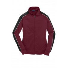Sport-Tek® Ladies Piped Tricot Track Jacket