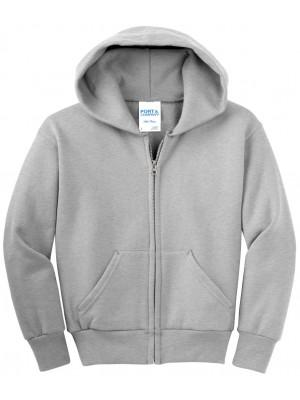 Port & Company - Youth Core Fleece Full-Zip Hooded Sweatshirt