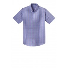 Port Authority® Short Sleeve Gingham Easy Care Shirt
