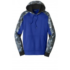 Sport-Tek Sport-Wick Mineral Freeze Fleece Colorblock Hooded Pullover