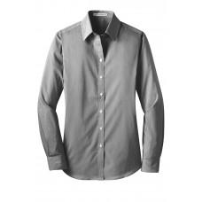 Port Authority® Ladies Fine Stripe Stretch Poplin Shirt