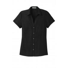 Port Authority® Ladies Textured Camp Shirt
