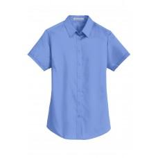 Port Authority® Ladies Short Sleeve SuperPro™ Twill Shirt