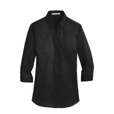 Port Authority® Ladies 3/4-Sleeve SuperPro™ Twill Shirt
