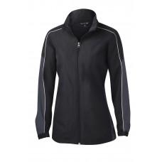 Sport-Tek® Ladies Piped Colorblock Wind Jacket