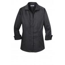 Red House® Ladies 3/4-Sleeve Nailhead Non-Iron Shirt