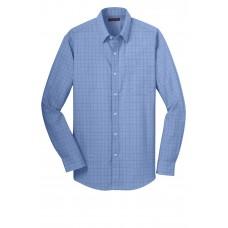Red House® Windowpane Plaid Non-Iron Shirt