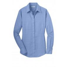 Red House® Ladies Windowpane Plaid Non-Iron Shirt