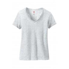 Hanes Ladies Nano-T Cotton V-Neck T-Shirt