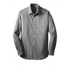 Port Authority® Fine Stripe Stretch Poplin Shirt