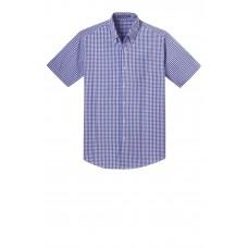 Port Authority® Short Sleeve Gingham Easy Care Shirt