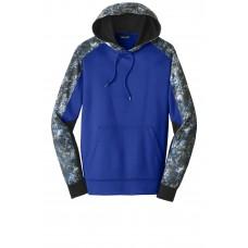 Sport-Tek Sport-Wick Mineral Freeze Fleece Colorblock Hooded Pullover
